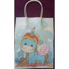 Unicorn Gift Bag Blue Large
