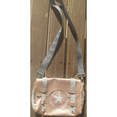 Leather Bag Postman Messenger Bag Rose Gold