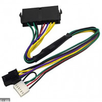 ATX 24pin to Motherboard 2-port 6pin adapter Power supply cable Cord