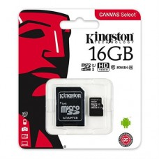 Kingston Canvas Select Class 10 UHS-I 16GB MicroSD Card (SD Adapter Included)