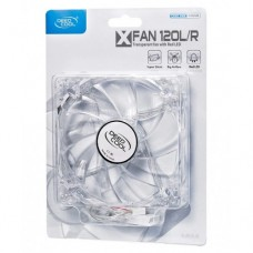 DEEPCOOL XFAN 120mm Clear Fan w/Red LED