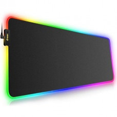 RGB Gaming Mouse Pad with 4 USB ports - Black