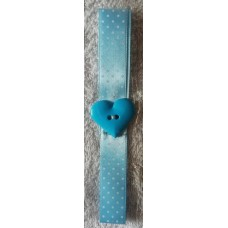 Bookmark A3 Blue Polkadot Heart
