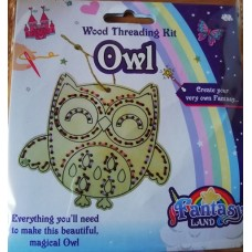 DIY Wood Threading Kit Owl