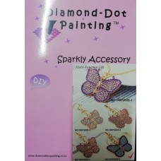 DIAMOND DOT PAINTING DIY SPARKLY ACCESSORY BLUE BUTTERFLY
