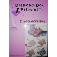 DIAMOND DOT PAINTING DIY SPARKLY ACCESSORY LPINK BUTTERFLY
