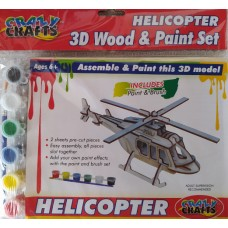 3D Wood & Paint Set Helicopter