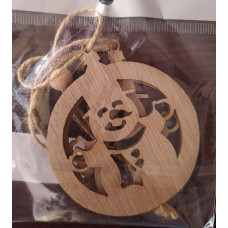 Wooden Christmas Decorations 2Pc