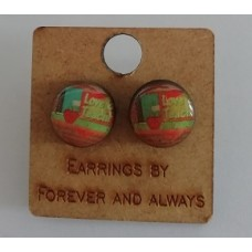 Earrings Love 2 teach