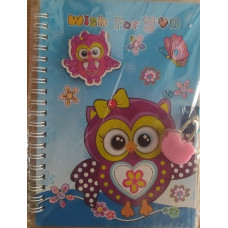 Notebook Wish for you blue Owl