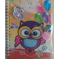 Notebook Wish for you yellow Owl
