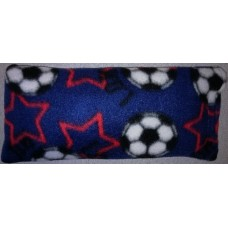 Rice Bag With Fleece Cover Blue Soccer Balls