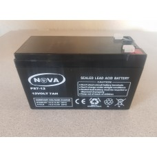 12V 7AH (7.2AH) Rechargeable Battery - Maintenance Free (SLA - Sealed Lead Acid)