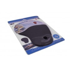 MOUSE PAD WITH GEL WRIST SUPPORT Black