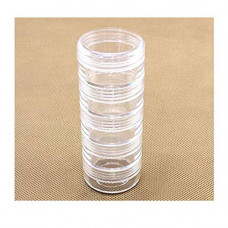 5 Layer Stackable Transparent Round Plastic Storage Container
