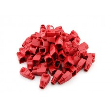 RJ 45 Red Boots 100 Pack